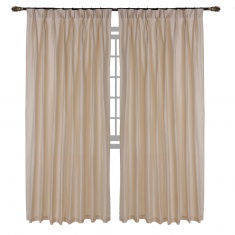 Silk look Pleated Curtain Pair - 137x240