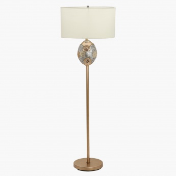 Dry Lemon Resin Floor Lamp - 153 cms