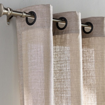 Odell Textured Eyelet Curtain Pair -140x240 cms