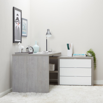 Petra 3-Drawer Corner Desk