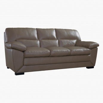Sperry 3 Seater Sofa Grey Polyurethane