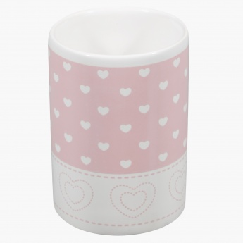 Cute Heart Printed Tumbler