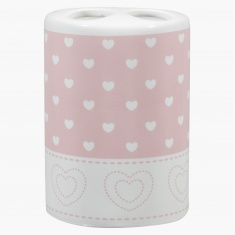 Cute Heart Printed Toothbrush Holder