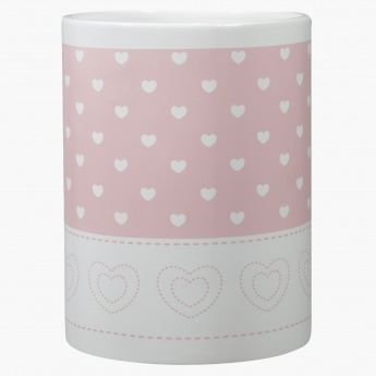 Cute Hearts Printed Waste Bin