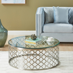 Nimbus Coffee Table with Glass Top