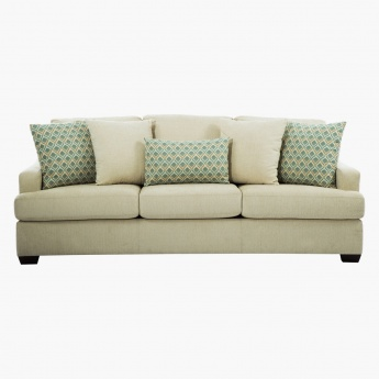 Presley 3 Seater Sofa Beige Fabric