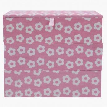 Ashley's Stackable Flower Jewellery box - 18x13x15 cms