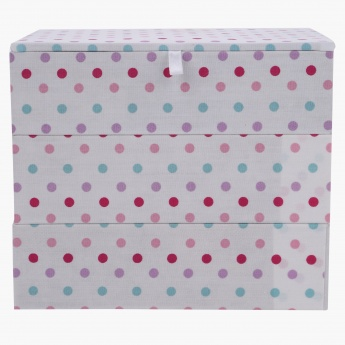 Ashley's Stackable Polka Jewellery box - 18x13x15 cms