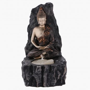 Buddha on Rocks Tealight Holder - 9X8x13 cms