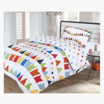 Bunting 2-Piece Full Comforter Set - 160x240 cms