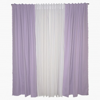 Ashley 4-Piece Curtains - 135x240 cms