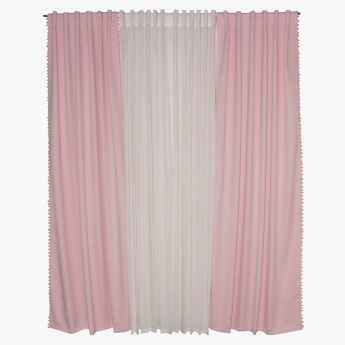 Ashley 4-Piece Curtain Set - 135x240 cms