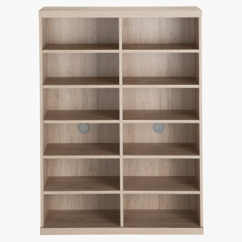 Spazio 12-Shelf Shoe Cabinet