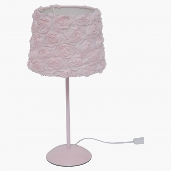 Rose Table Lamp with 3-Pin Plug