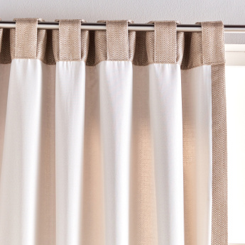 Bling Scroll Curtain Pair - 135x240 cms