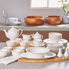 White Flurry 47-Piece Dinner Set