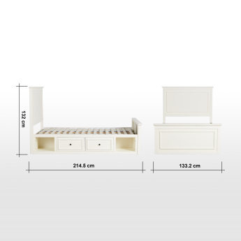 Addison Single Bed with 2-Drawers - 120x200 cms