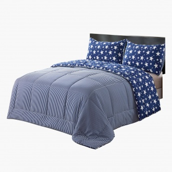 Luke's Starry Nite Printed Reversible 2-Piece Full Comforter Set - 160x240 cms