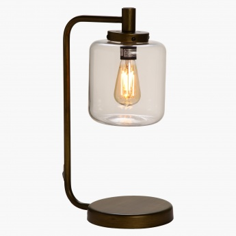 Botein Wood with Glass Table Lamp - 50 cms