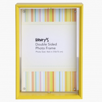Henrys Double Sided Photo Frame 4x6 Inches Yellow Mdf