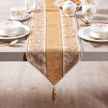 Printed Table Runner with Tassel