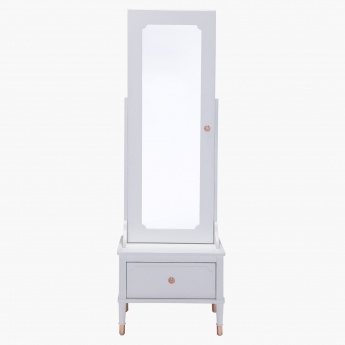 Rose Free Standing Mirror With Storage