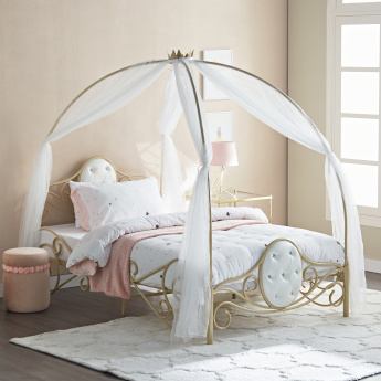 Ella Carriage Bed with Curtain - 120x200 cms