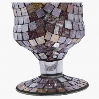Rosa Mosaic Footed Votive Holder - 14.3x14.3x20 cms