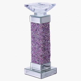 Cosmo Jewelled Pillar Candle Holder Small
