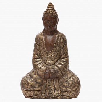 Awakened Sitting Buddha Figurine - 18x9x28 cms