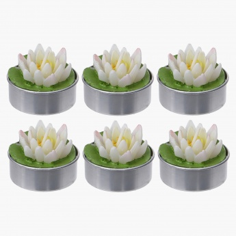 Tinted Lotus Light with Leaf - Set of 6