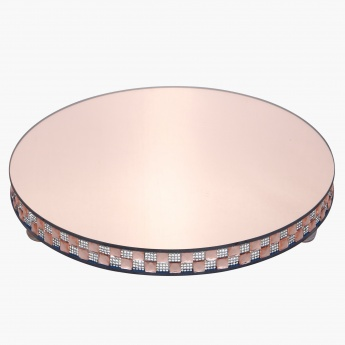 Shifaq Thick Round Candle Plate - 30x5 cms