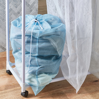 3-Bag Laundry Sorter with Castor Wheels
