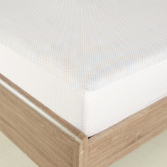 Jewel Mist Printed Super King Fitted Sheet - 200x210 cms