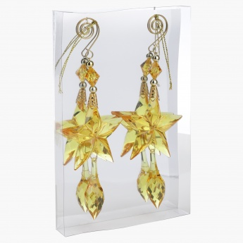 Decorative Star Drops Hanging - Set of 2