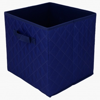 Diamond Foldable Cube Quilted Storage Basket