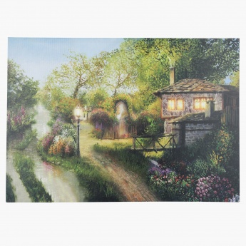 Country Life Light Up Canvas Painting