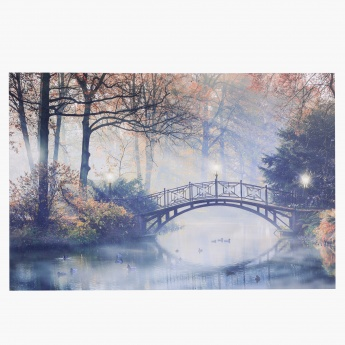 Shadow Bridge Light Up Canvas Print - 60x2.5x90 cms