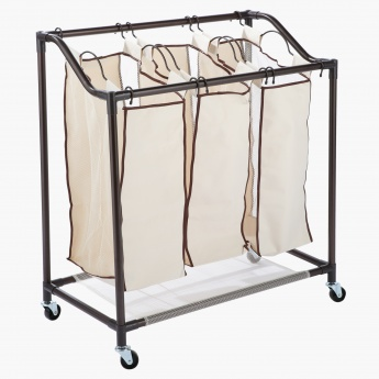 Consuela 3-Bag Laundry Sorter Cart