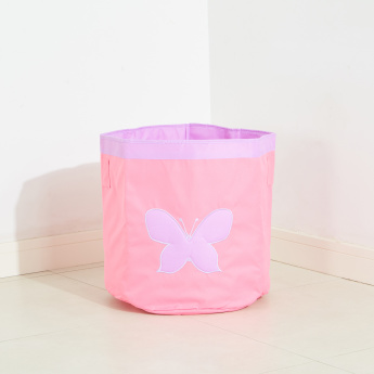 Butterfly Embroidered Storage Bin