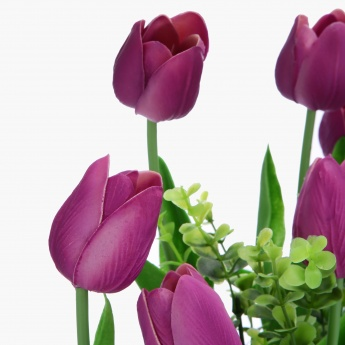 Artificial Tulip Flowers in Vase