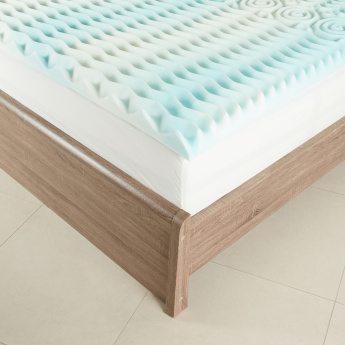 Sculpted Comfort Gel Memory Foam Mattress Topper - 200x210 cms