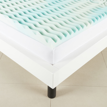 Memory Foam Mattress Topper.Sculpted Comfort Gel Memory Foam Mattress Topper 90x200 Cms