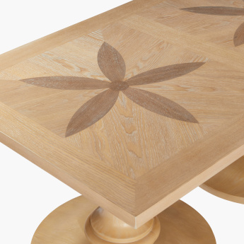 Elpis Carved Rectangular Centre Table with Double Pedestal