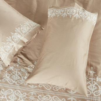 Valencia Embroidered 3-Piece Duvet Cover - 260x220 cms