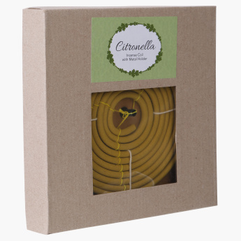 Citronella Incense Coil with Metal Holder