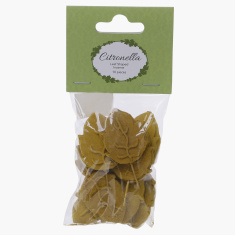 Citronella Leaf Shaped Incense - Set of 10