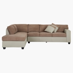 Jumbo Corner Sofa with Left Salak and Taupe