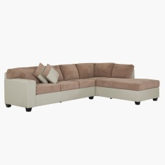 Jumbo Corner Sofa with Right Salak and Taupe