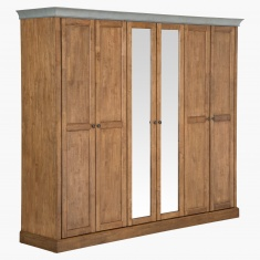 Springfield 6-Door Wardrobe with Mirror